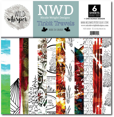 Nicole Wright Tinbit Travels - 12x12 Paper Pack