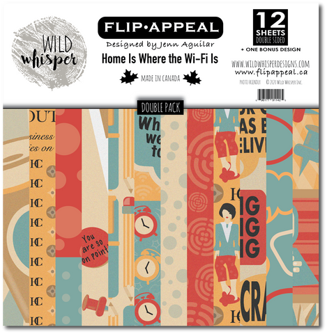 Jenn Aguilar Home Is Where The Wifi Is - DOUBLE 12x12 Paper Pack
