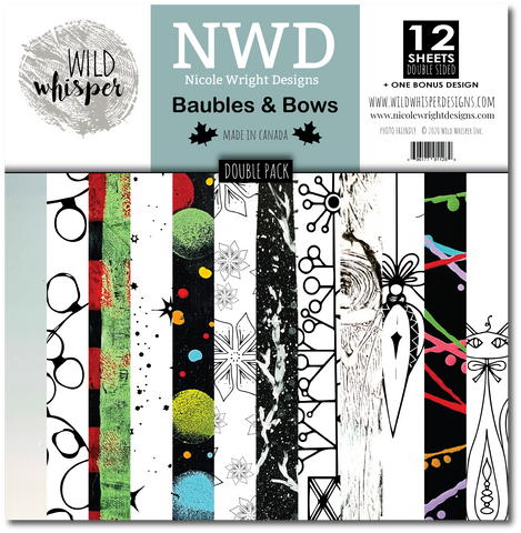 Nicole Wright Baubles & Bows - DOUBLE 12x12 Paper Pack