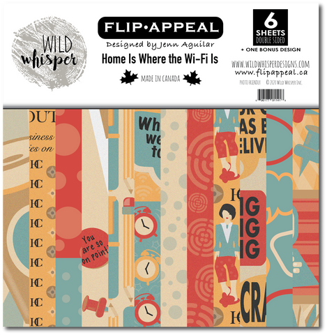 Jenn Aguilar Home Is Where The Wifi Is - 12x12 Paper Pack