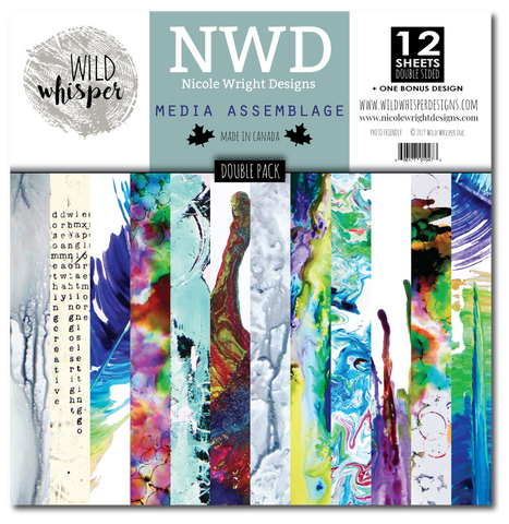 Nicole Wright Media Assemblage - DOUBLE 12x12 Paper Pack