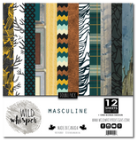 Masculine - DOUBLE 12x12 Paper Pack