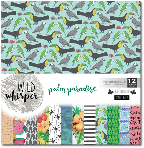 Palm Paradise - DOUBLE 12x12 Paper Pack