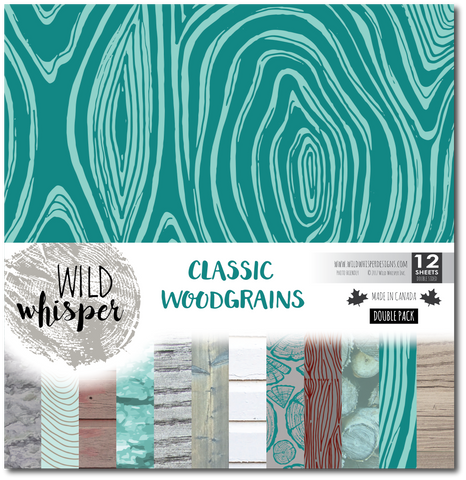 Classic Woodgrains - DOUBLE 12x12 Paper Pack