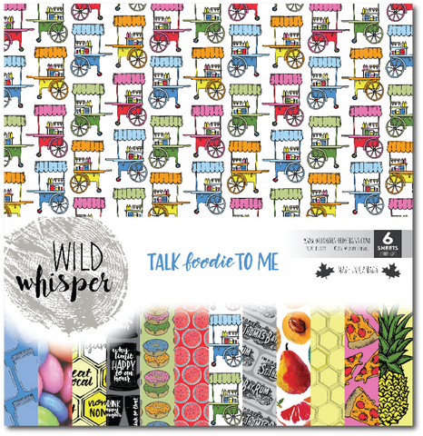 Talk Foodie To Me - 12x12 Paper Pack