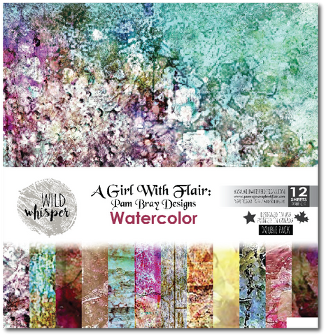 Pam Bray - Watercolor DOUBLE 12x12 Paper Pack