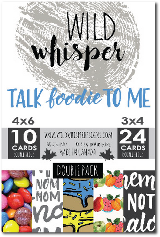 Talk Foodie To Me - DOUBLE Card Pack