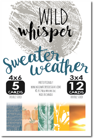 Sweater Weather Card Pack
