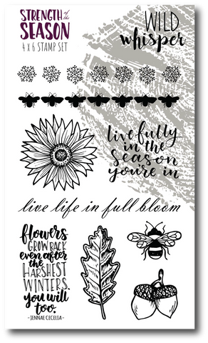 Strength of the Season - 4x6 Stamp Set