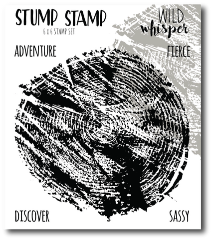 Wild Whisper Stump - 6x6 Stamp Set