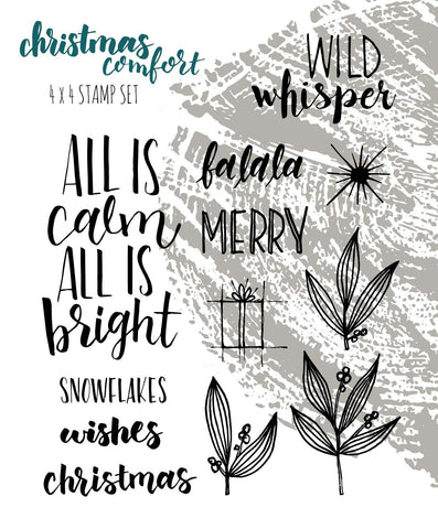 Christmas Comfort - Stamp Set 4x4