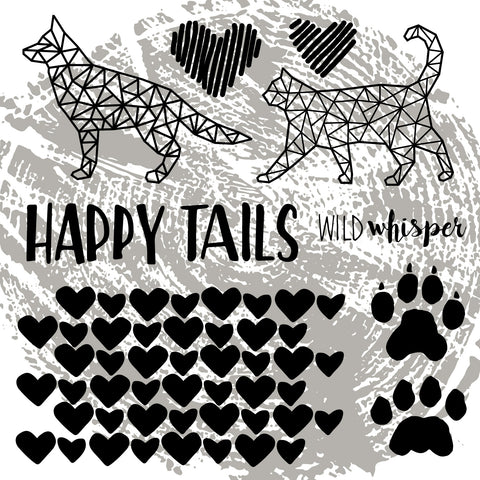 Happy Tails - Cut File