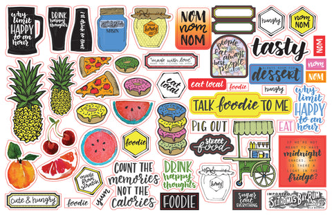 Talk Foodie To Me - Ephemera Pack