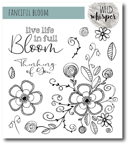 Nicole Wright Fanciful Bloom - 6x6 Stamp Set