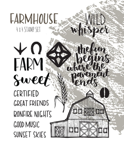 Farmhouse - Stamp Set 4x4