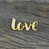 Wood Veneer - Love Script