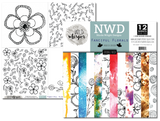 Nicole Wright Fanciful Florals - DOUBLE 12x12 Paper Pack
