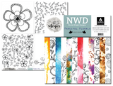 Nicole Wright Fanciful Florals - 12x12 Paper Pack