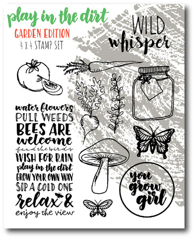 Play in the Dirt - Garden - 4x4 Stamp Set