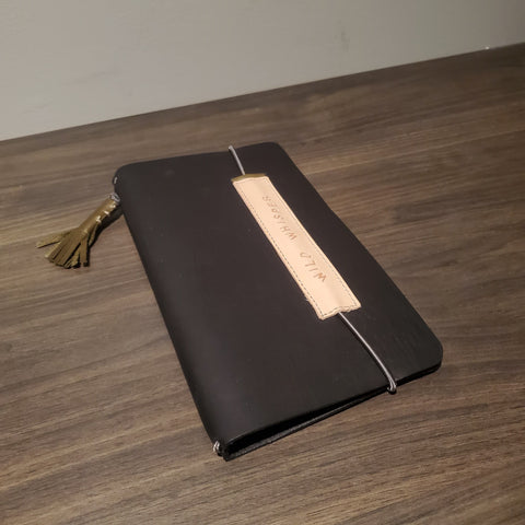 Traveler's Notebook Cover - Black Leather
