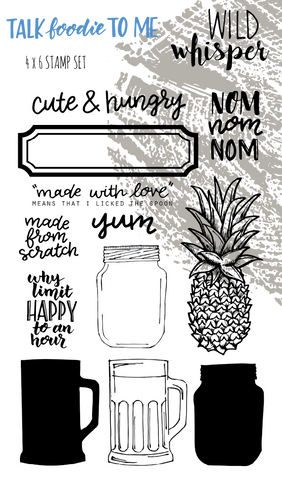 Talk Foodie To Me - 4x6 Stamp Set
