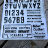 Road Trip! - 6x8 License Plate Stamp Set
