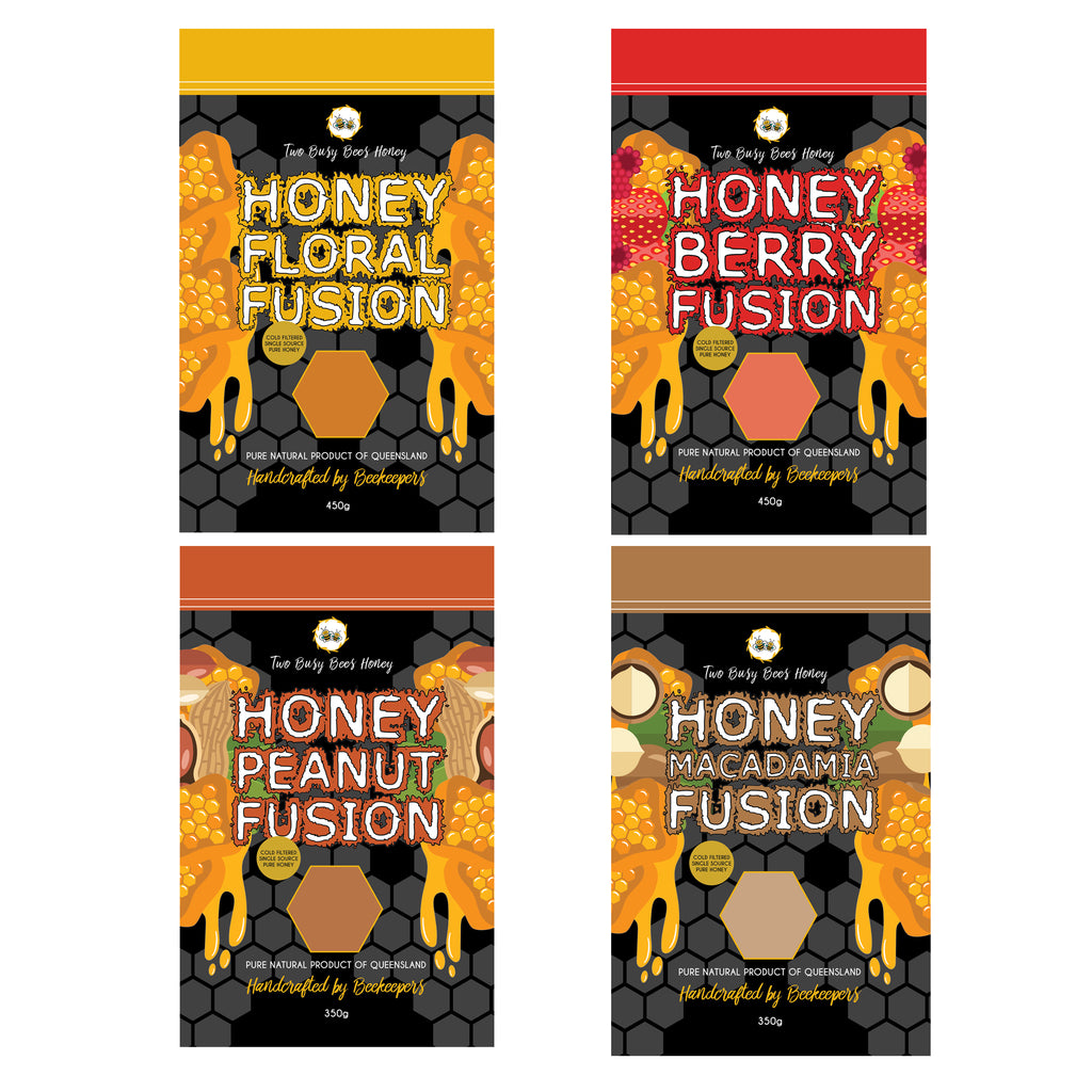 Flavour Fusion Pouch Packs from Two Busy Bees Honey