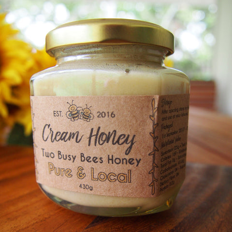 Creamed honey from two Busy Bees Honey