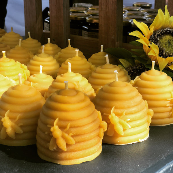 Pure beeswax candles from Two Busy Bees Honey