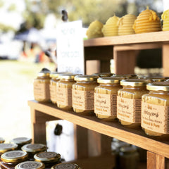 Two Busy Bees Honey display at the Green Heart Fair