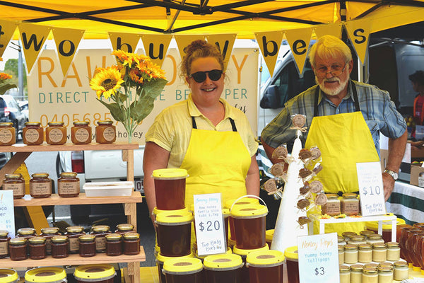 Two Busy Bees Honey at the Farmers Market