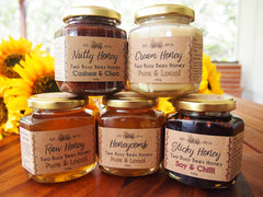 Two Busy Bees Honey - Five Jar Set