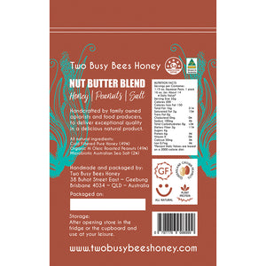 HoneyandPeanutsNutButterBlend-Back-TwoBusyBeesHoney
