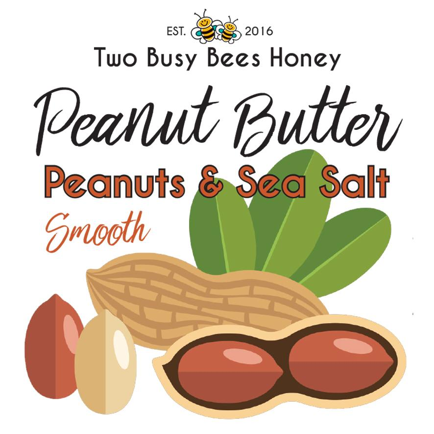 PeanutButter-FrontLabel-Website-TwoBusyBeesHoney