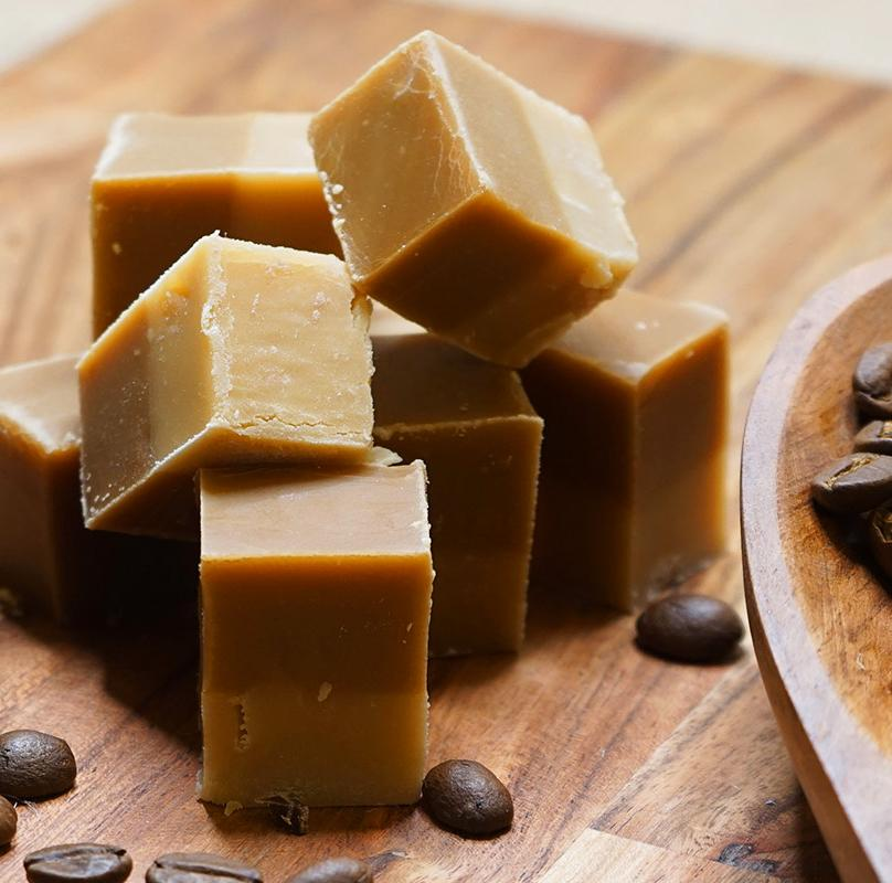 Pure honey and cold brew coffee fudge bar from Two Busy Bees Honey