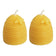 Pure Beeswax Candles - Set of Two