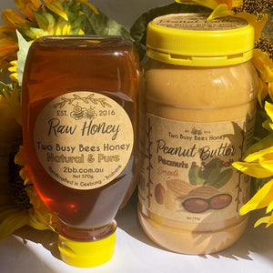 Pure Honey and Fresh Peanut Butter