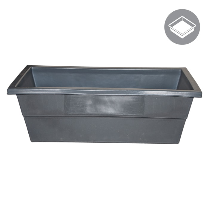 75 Gallon Water Tank Res, Rectangle, Dark Grey-NWGSupply.com