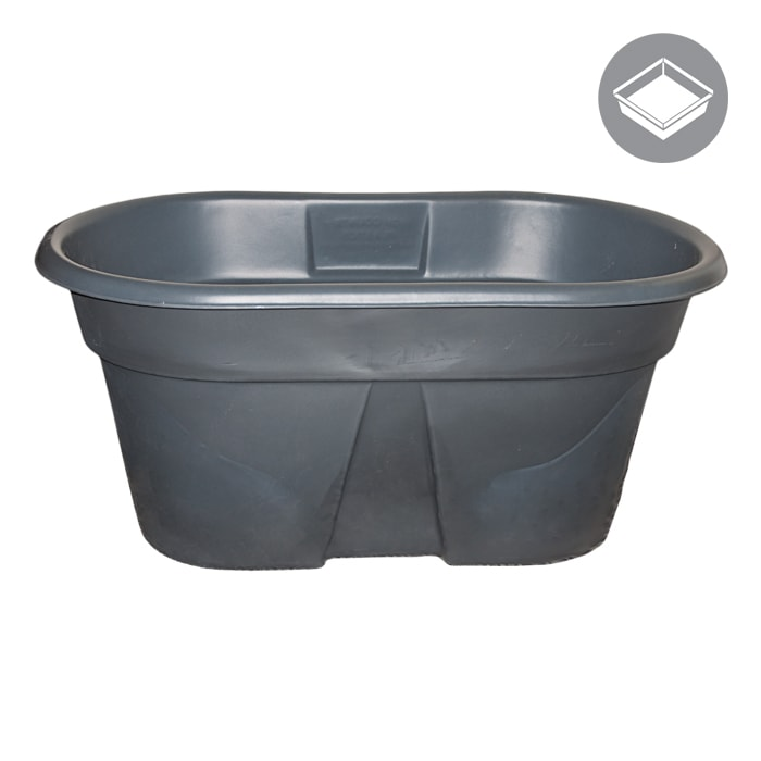 100 Gallon Water Tank Res, Oval, Dark Grey-NWGSupply.com