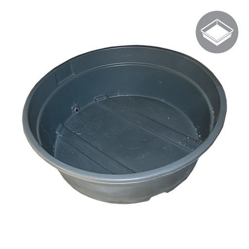 350 Gallon Water Tank Res, Round, Dark Grey-NWGSupply.com