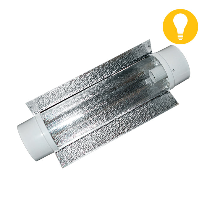 6'' Air-Cooled Tube Reflector w/ exterior reflective wing-NWGSupply.com