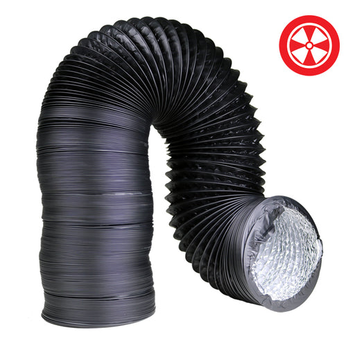 4'' Light Proof Black Ducting-NWGSupply.com