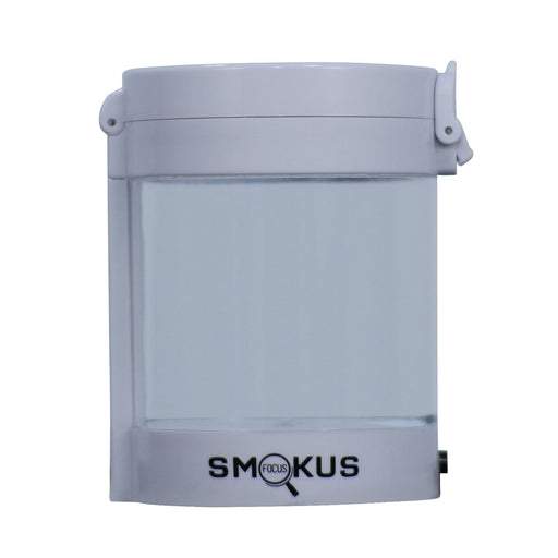 Smokus Focus Middleman Display Container w/ LED and Dual Magnification - White-NWGSupply.com