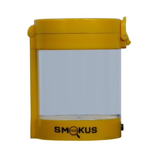 Smokus Focus Middleman Display Container w/ LED and Dual Magnification - Yellow-NWGSupply.com
