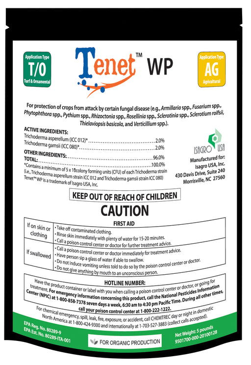 Blacksmith BioScience Tenet WP Biofungicide 16 oz / 1 lb-NWGSupply.com