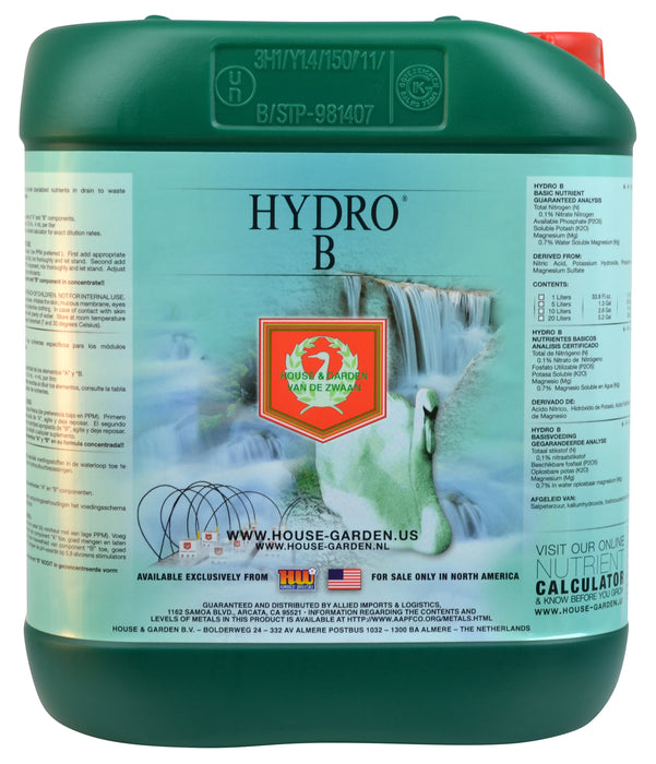 House and Garden Hydro B 5 Liter-NWGSupply.com