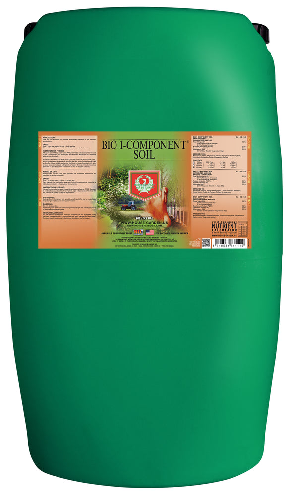 House and Garden Bio 1-Component Soil 60 Liter (SO Only)-NWGSupply.com
