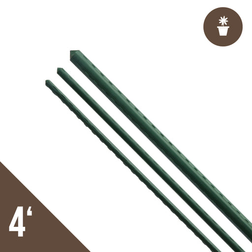 4' Steel Stake Plant Support - Green 20 pack-NWGSupply.com