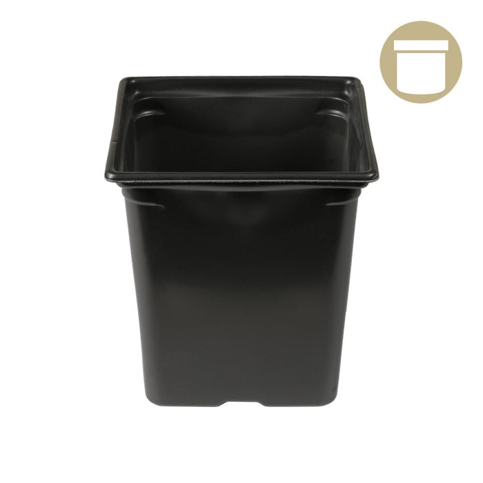 3.25'' x 3.25'' x 3.5'' 0.5qt Square Pot-NWGSupply.com
