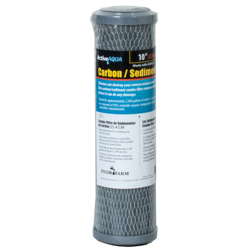 "Active Aqua 10"" Carbon and Sediment Combo Filter-NWGSupply.com"
